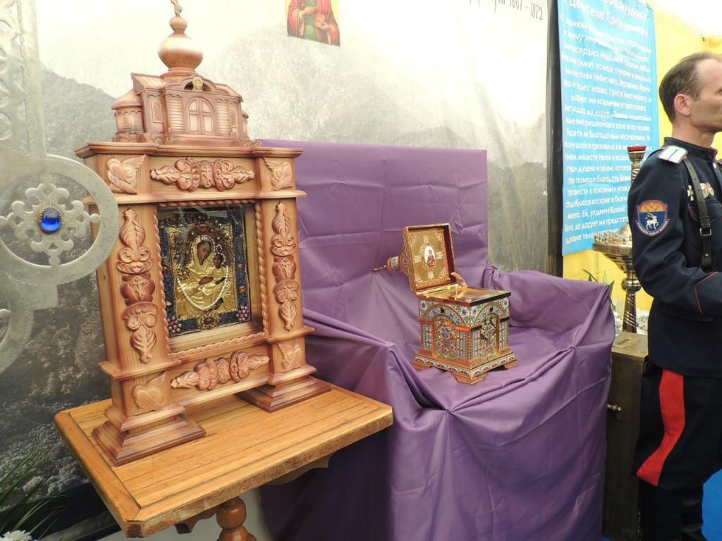 В г. Урюпинск доставлен ковчег с частицей мощей Святаго Великомученика и целителя Пантелеимона.