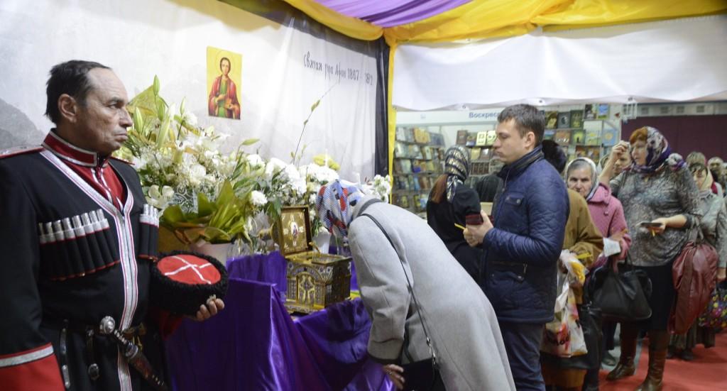 Мощи целителя Пантелеимона пребывали на выставке в Волгограде.