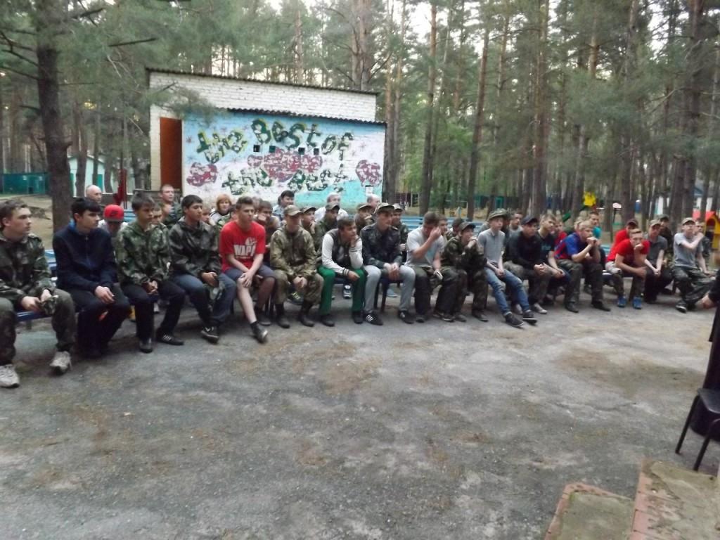 Военно-патриотические сборы на базе ДОЛ «Колос» Новоаннинского района.