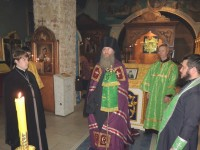 Полиелейное Вечернее богослужение в Покровском кафедральном соборе.