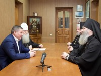 Состоялась встреча губернатора с Архиерейским советом Волгоградской митрополии.