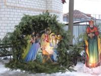 Божественная литургия в Покровском кафедральном соборе в Рождественский сочельник.