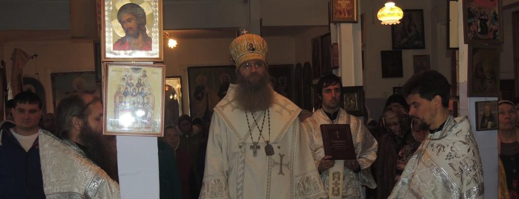 Божественная литургия в соборном храме святителя Феофана Затворника Вышенского в г. Новоаннинский.