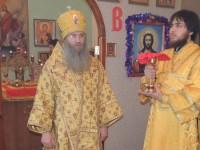 Божественная литургия в храме сщмч. Зотика Сиропитателя.