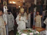 Божественная литургия в Соборном храме свт. Феофана Затворника, еп. Вышинского в г. Новоаннинский.