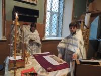 Праздничная Божественная литургия в Покровском кафедральном соборе г. Урюпинска. (Праздник Крещения Господня)