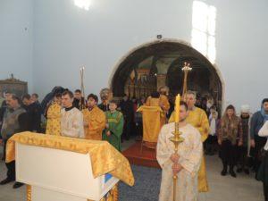 Божественная литургия в главном приделе в Покровском кафедральном соборе г. Урюпинска