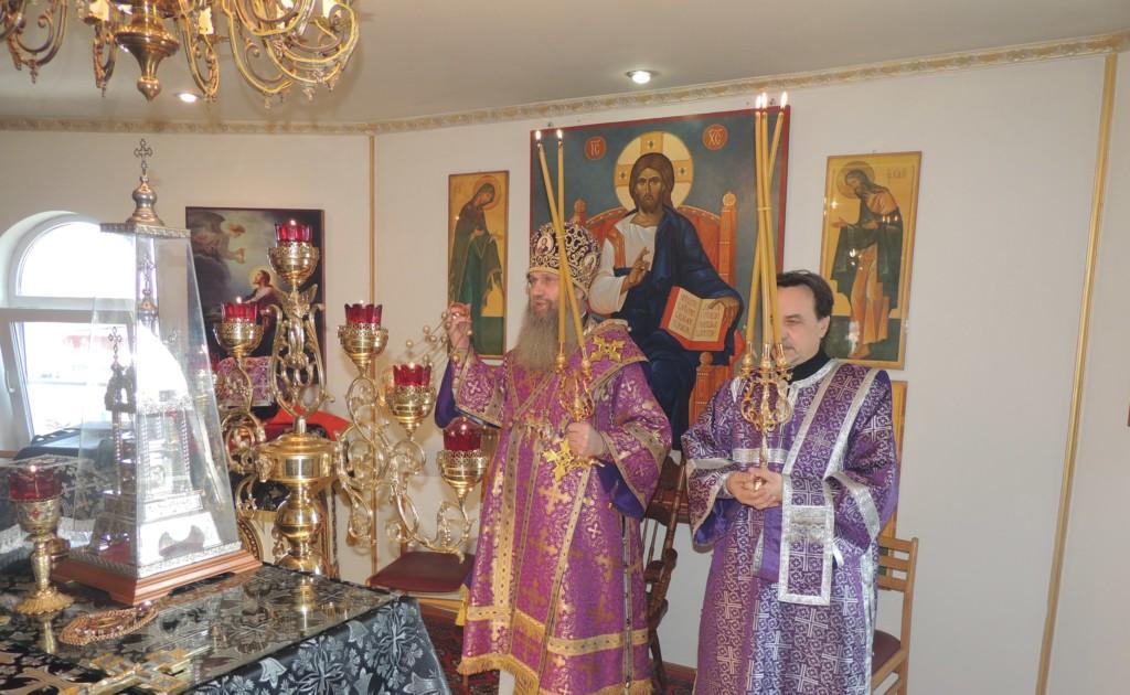 Тожественная литургия Преждеосвященных Даров в ст. Нехаевской.