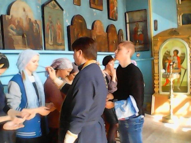 Таинство Соборования ( Елеосвящения) в храме Михаила Архангела р.п. Рудня.