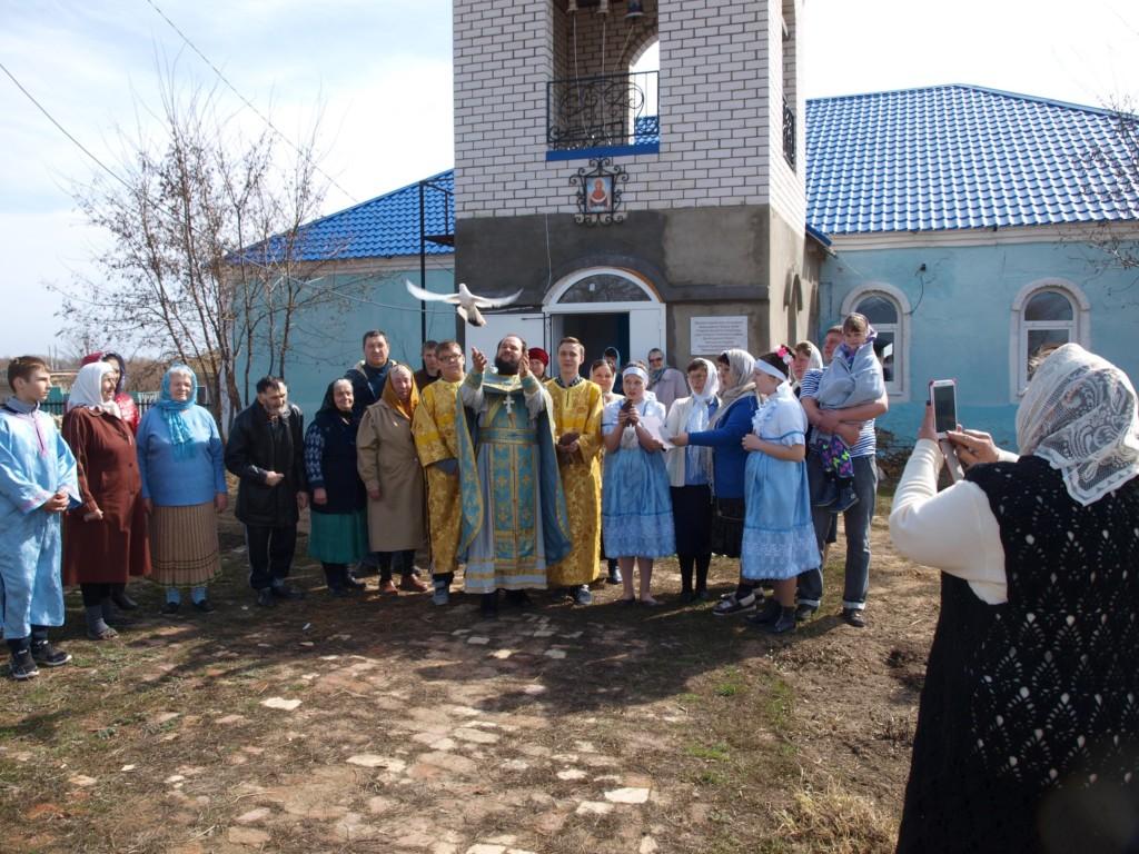 Божественная Литургия в храме Покрова Пресвятой Богородицы с. Солодча. (Благовещение)