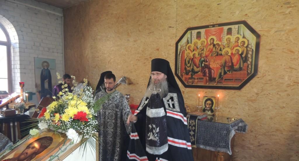 Служение епископа Елисея в Великий Понедельник.
