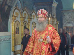 Служение епископа Елисея в канун 3-й недели по пасхе Жен Мироносиц.