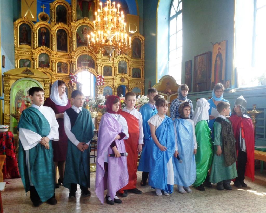 Детский Пасхальный праздник в храме Михаила Архангела р.п. Рудня.