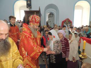 Служение епископа Елисея в 3-ю неделю по пасхе. Жен Мироносиц.
