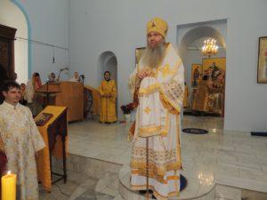 Служение епископа Елисея в день памяти прор. Елисея.