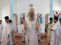 Служение епископа Елисея в день Собора Архангела Гавриила.