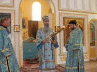 Служение епископа Елисея в 7-ю неделю по пятидесятнице, Коневской иконы Божией матери.