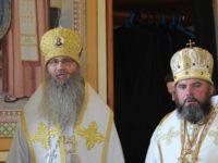 Владыка Елисей принял участие в богослужении с Митрополитом Варсонофием.
