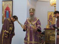 Архиерейское богослужение в Покровском соборе.