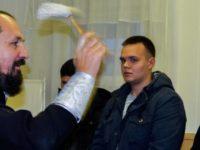 Молебен после призыва на военную службу в г.Михайловка.