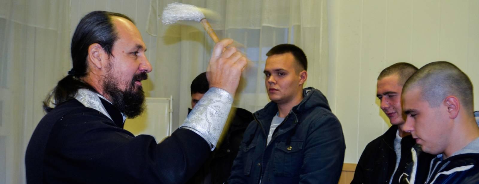 Молебен после призыва на военную службу в г.Михайловка. - Урюпинская епархия
