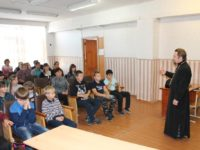 Встреча с учащимися и педагогами Калачёвской средней школы.