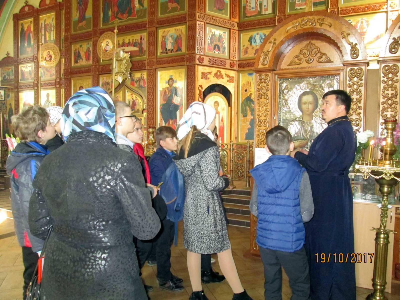 Экскурсия для учащихся в Богоявленском храме г.Фролово. - Урюпинская епархия