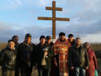 Установлен большой поклонный крест — станица Глазуновская.