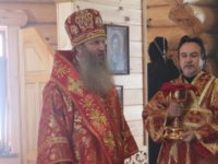 Первая Божественная литургия в храме св.вмч.Георгия Победоносца/