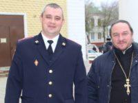 Протоиерей Александр Щичко поздравил сотрудников МВД с Днем полиции.