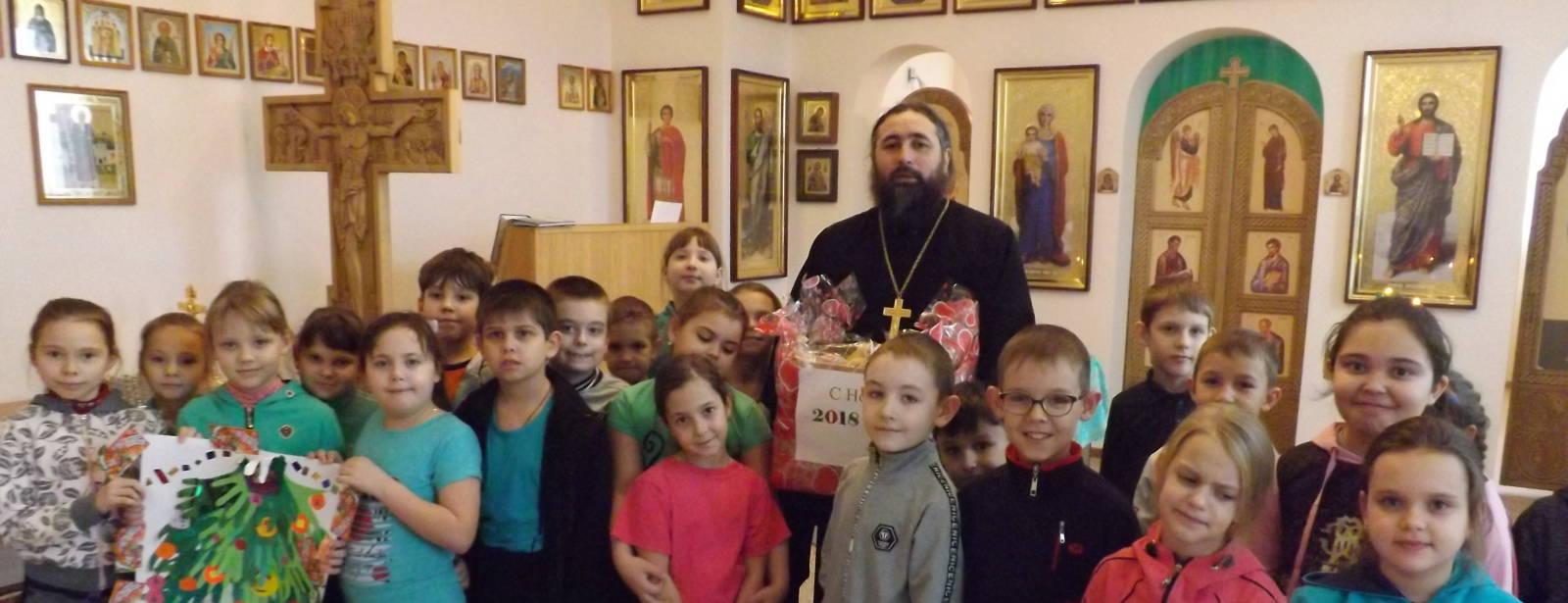 Дети 2″Б» класса школы №1 г. Новоаннинска, посетили дом милосердия «Виктория».