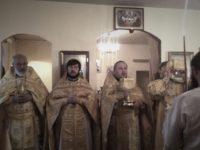 Праздничная Божественная литургия в день памяти апостола Андрея Первозванного в р.п. Линево.