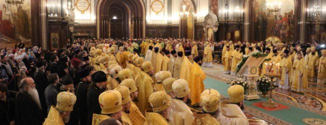 Божественная литургия в Храме Христа Спасителя в г. Москве.