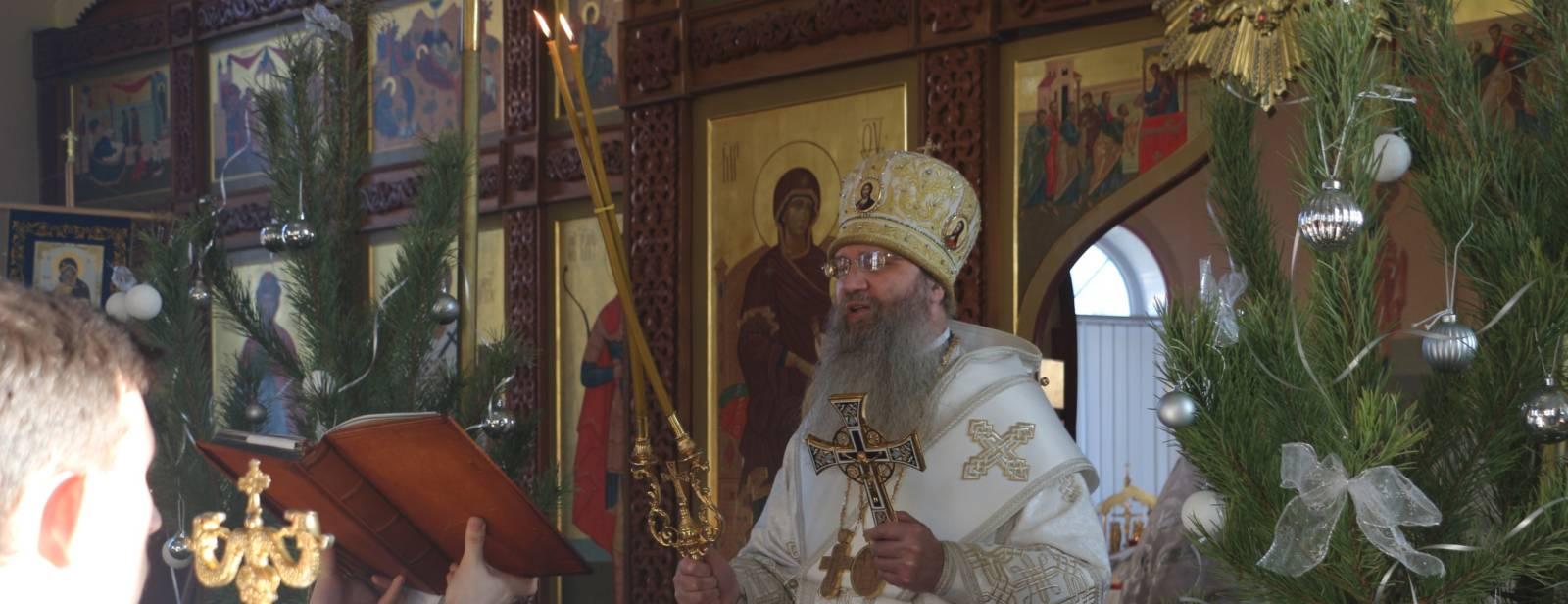 Божественная литургия в храме Богоявления Господня г. Фролово.