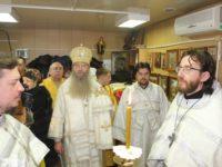Служение епископа Елисея в субботу по Богоявлении.