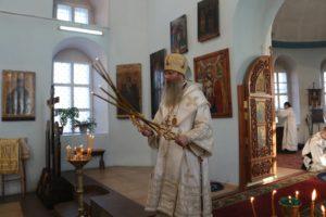 Божественная Литургия в храме Рождества Христова в с. Нижняя Добринка