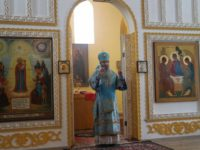 Божественная литургия в Троицком Каменно-Бродском мужском монастыре с. Каменный Брод.