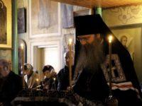 Великое повечерие с чтением канона Андрея Критского в храме Святителя Николая Архиепископа Мирликийского.