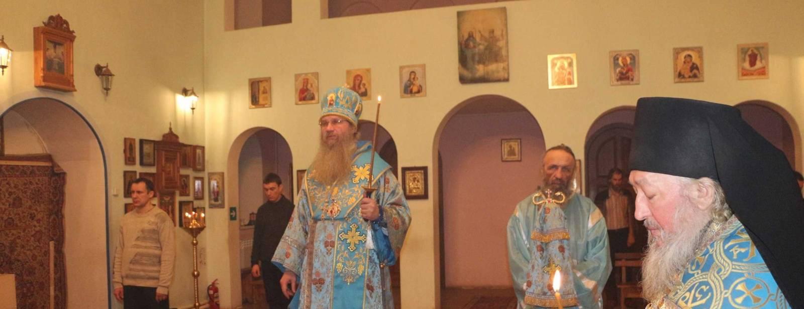 Всенощное бдение в Троицком Каменно-Бродском мужском монастыре с. Каменный Брод.