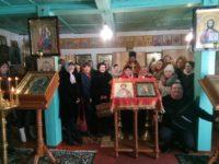 Праздничная Божественная литургия в храме Вмч. Феодора Стратилата в х. Теркин.