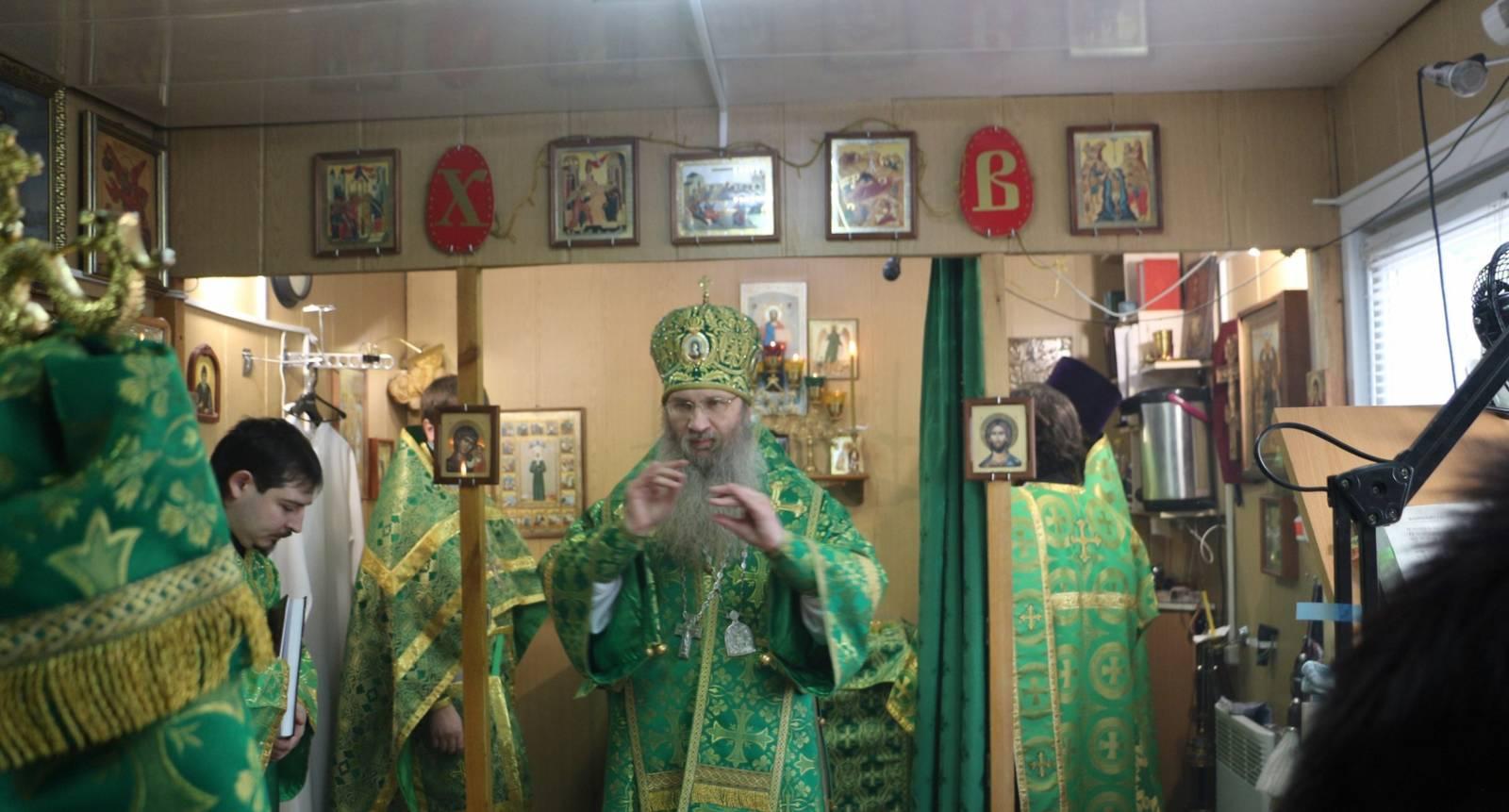 Служение епископа Елисея в день памяти Блж. Ксении Петербургской.