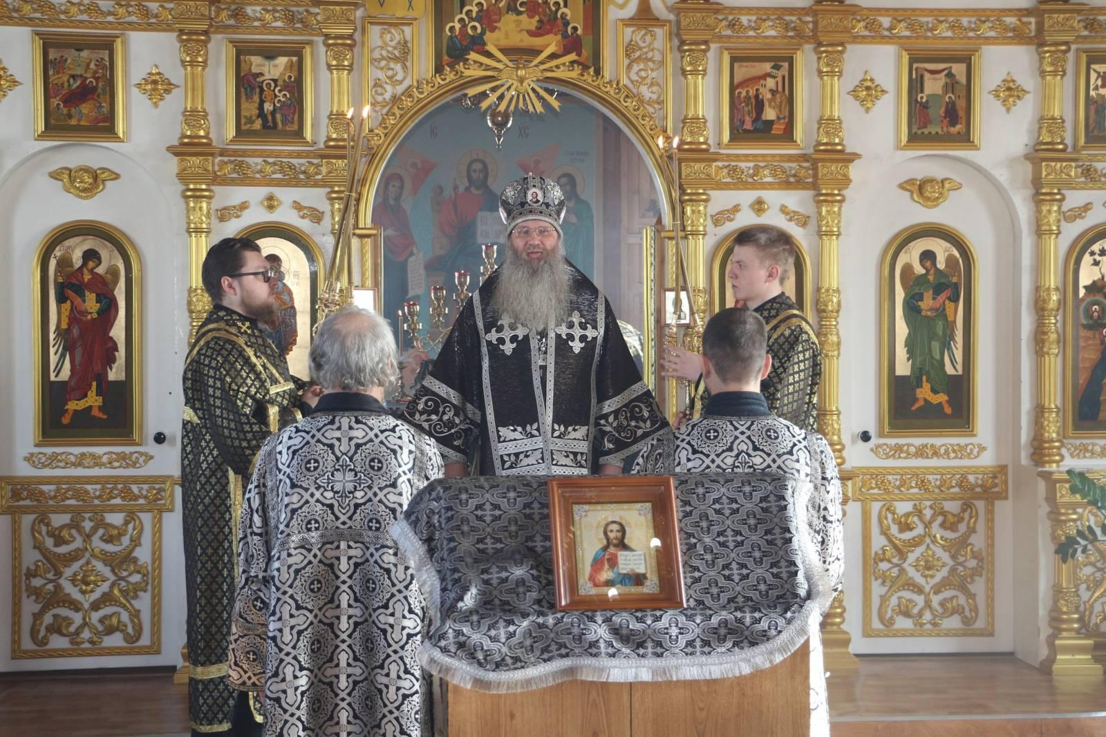 Служение епископа Елисея в среду 1-й седмицы Великого поста.