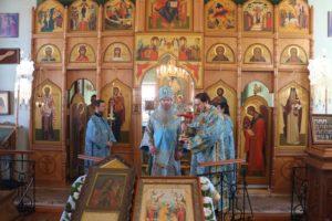 Божественная литургия в Гусёвском женском монастыре в честь Ахтырской иконы Божией Матери