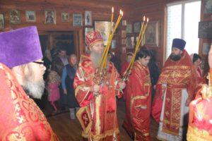 Божественная литургия в храме св. Вениамина Петроградского и Владимира в х.Черкесовском (Бударино)