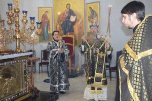 Епископ Елисей совершил 1-ю Пассию в Покровском кафедральном соборе г. Урюпинска