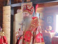 Божественная литургия в храме св. Вениамина Петроградского и Владимира в х.Черкесовском (Бударино).
