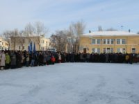 В день 75-й годовщины великой победы в Сталинградской битве в г. Жирновске состоялся митинг.