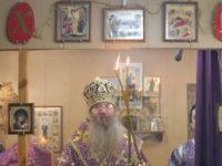 Божественная литургия Преждеосвященных Даров в храме Рождества Иоанна Предтечи.