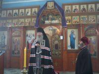 Божественная литургия Преждеосвященных Даров в храме иконы Божией Матери «Достойно есть» на территории ЛИУ-23 г. Урюпинска.