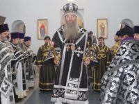 Божественная литургия Преждеосвященных даров в Покровском кафедральном соборе г. Урюпинска
